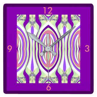 Wall Clock -Home Decor-Purple/Coral/Green/White