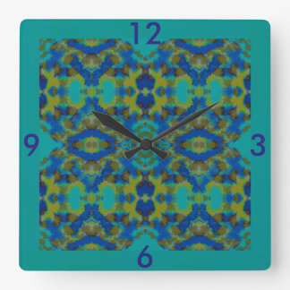 Wall Clock-Home -Royal Blue/Yellow/Turquoise/Brown Clock