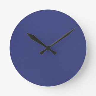 Wall clock in Blue Satin Look