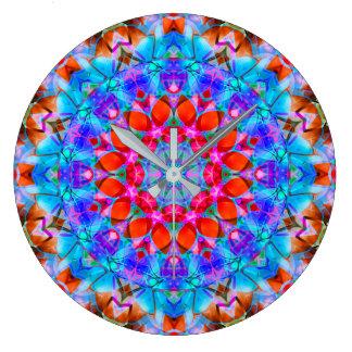 Wall Clock Kaleidoscope Diamond Flower G408