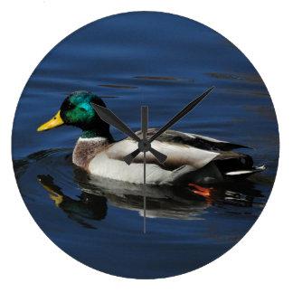 Wall Clock, Mallard Duck Clock