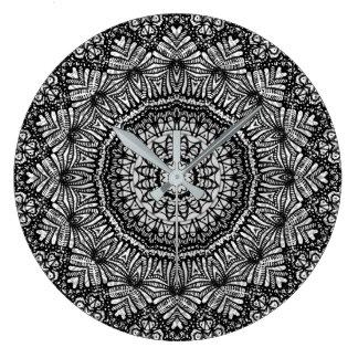 Wall Clock Mandala Mehndi Style G444
