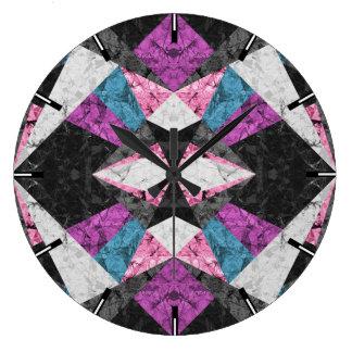 Wall Clock Marble Geometric Background G438