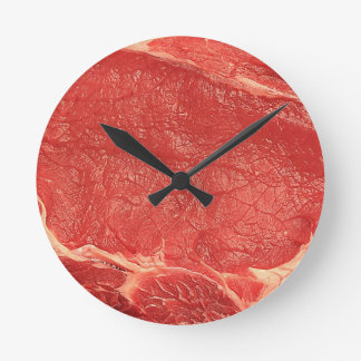 wall clock, meat, beef round clock