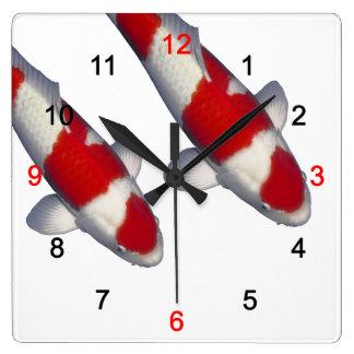 Wall clock of brocade carp, No.05