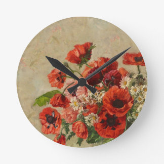 "Wall Clock ""Poppy's Time"""
