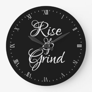 Wall Clock - Rise & Grind