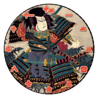 Wall Clock Samurai Japanese Kanji Numerals