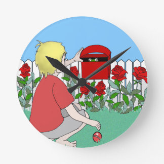 Wall clock suitable for boy's gift