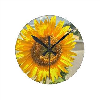 wall clock sunflower