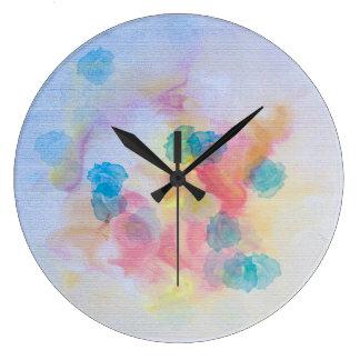 Wall Clock - Vibrant Watercolors