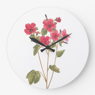 Wall Clock with a flower vintage illustration