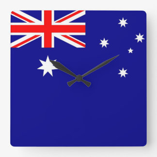 Wall Clock with Flag of Australia