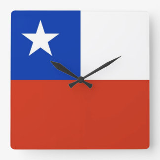 Wall Clock with Flag of Chile