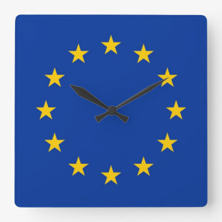 Wall Clock with Flag of European Union