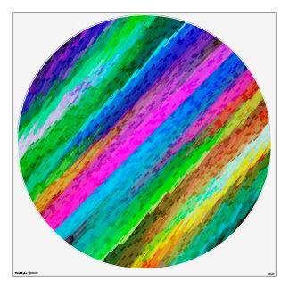 Wall Decal Colorful digital art splashing G478