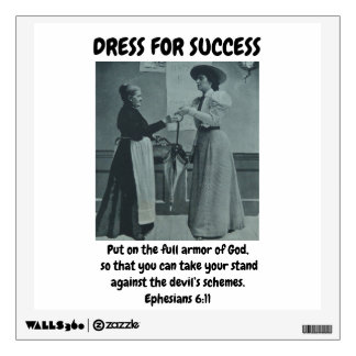 WALL DECAL DRESS FOR SUCCESS CHRISTIAN SCRIPTURE