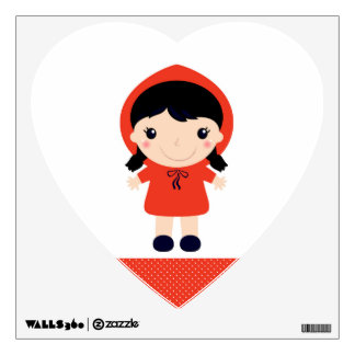 Wall decal : red riding hood