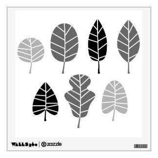 Wall decal : with hand drawn Leaves