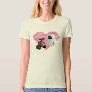 WALL-E and Eve Pixel Heart T-Shirt