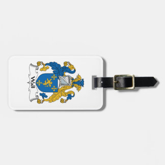 Wall Family Crest Luggage Tag