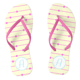Wall Flowers Monogram Flip Flops