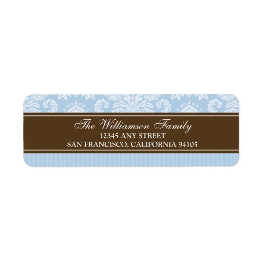 Wall Frames Holiday Return Address Labels (blue)
