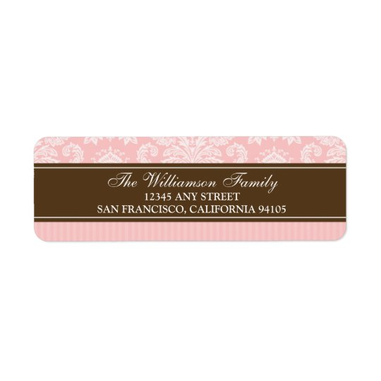 Wall Frames Holiday Return Address Labels (pink)