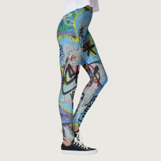 wall graffiti leggings