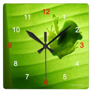 Wall-mounted clock of silhouette of amagaeru, No.0