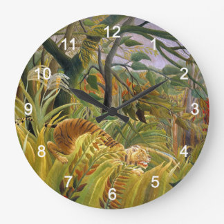Wall-mounted clock of tora in anri Rousseau's 'tro
