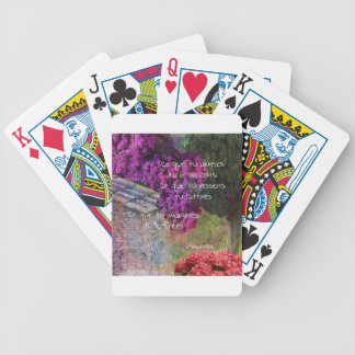 Wall,Nature and message Poker Deck