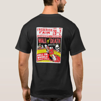 Wall of Death Retro Motorcycle Poster T-Shirt