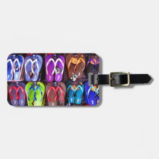 Wall of Flip Flops Luggage Tag