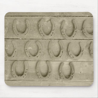 Wall of Horse Shoes Mouse Pad