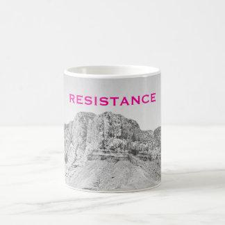 Wall of Resistance West Texas Pink Coffee Mug