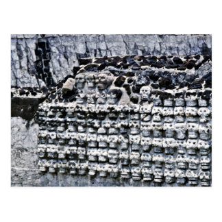 Wall Of Skulls At Templo Mayor, Mexico City Postcard