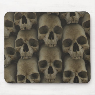 Wall Of Skulls Mouse Pad