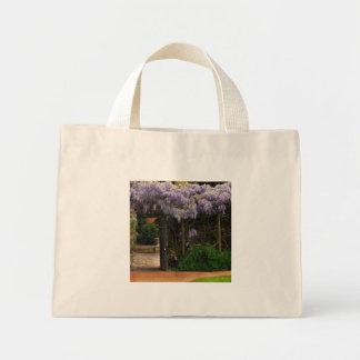 Wall of Wisteria Mini Tote Bag