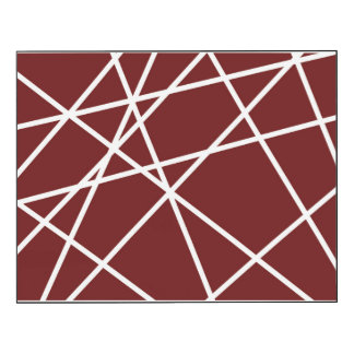 Wall Panel (14x11) WHITE ABSTRACT LINES