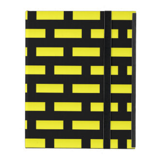Wall Pattern Black and Yellow Case For iPad