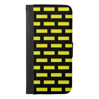 Wall Pattern Black and Yellow iPhone 6/6s Plus Wallet Case