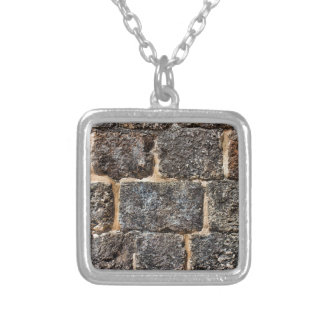 wall silver plated necklace