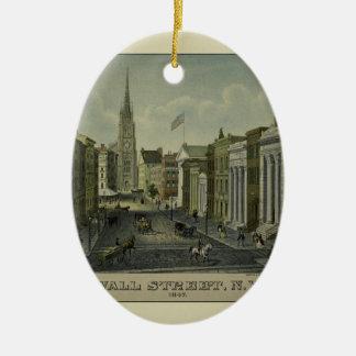 Wall Street 1847 Ceramic Ornament