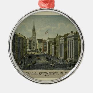 Wall Street 1847 Metal Ornament