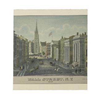 Wall Street 1847 Notepad