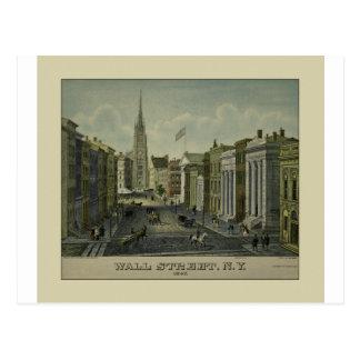 Wall Street 1847 Postcard