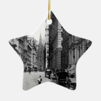 Wall Street 1900's Ceramic Ornament