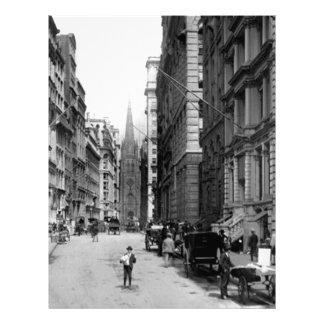 Wall Street 1900's Letterhead
