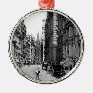Wall Street 1900's Metal Ornament